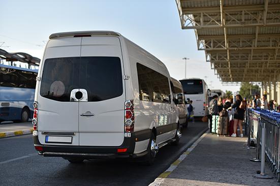Mercedes Sprinter Van at Airport