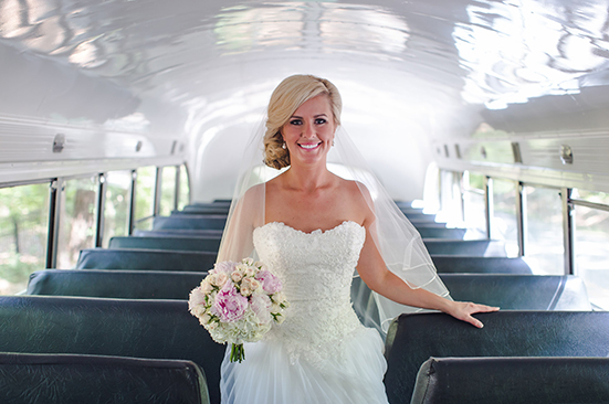 Bride on Bus