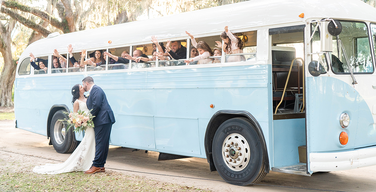Couple in front of 1950s Bespoke Supercoach