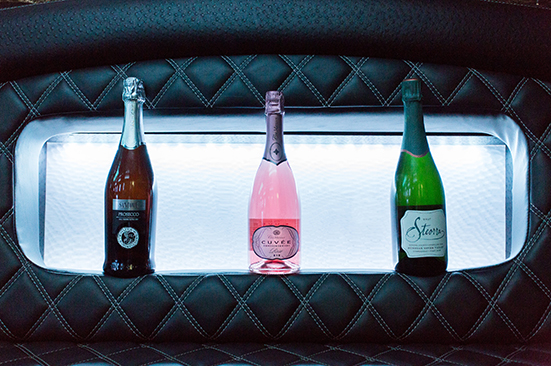 Champagne in Limo
