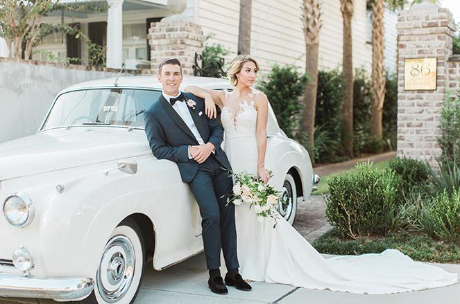 1961 Rolls Royce Bride and Groom