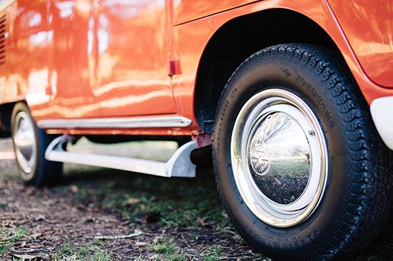 Wheels of VW Bus