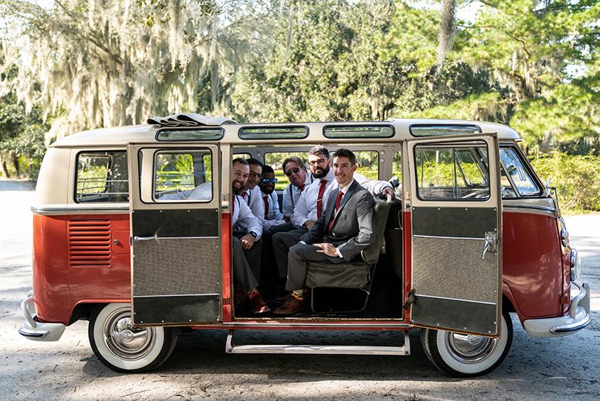 Friends in VW Bus