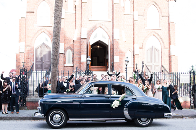 Car in front of Church
