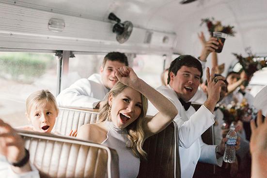 Wedding Party in Bus